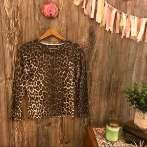 {banana republic x filpucci} leopard sweater xsp